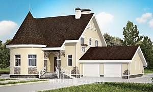 275-001-L Two Story House Plans with mansard roof with garage in back, beautiful House Plans
