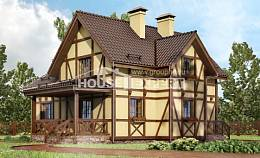 160-003-R Two Story House Plans with mansard, available Dream Plan,