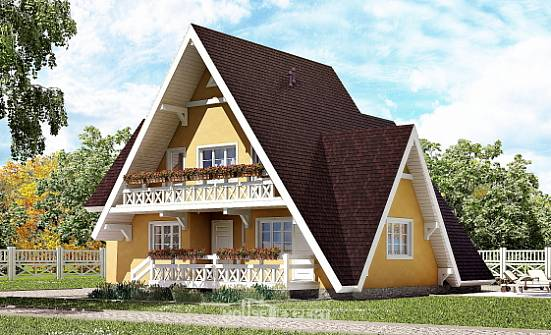 155-008-R Two Story House Plans with mansard, the budget Building Plan, House Expert