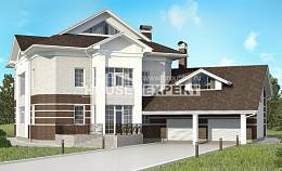410-001-R Two Story House Plans with garage, classic Blueprints of House Plans,