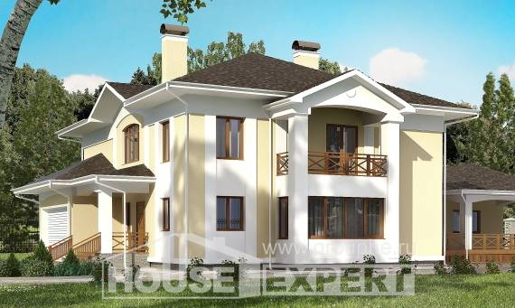 375-002-L Two Story House Plans with garage, modern Construction Plans