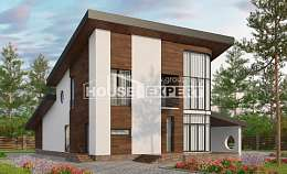 230-001-R Two Story House Plans and mansard, a simple House Plan, House Expert