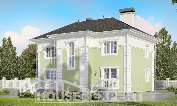 155-005-R Two Story House Plans, cozy Custom Home,