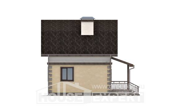 070-004-R Two Story House Plans with mansard roof, little House Planes,