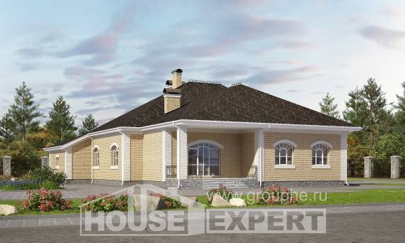 290-001-R Two Story House Plans with mansard with garage in back, a huge Cottages Plans, House Expert