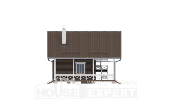 080-001-R Two Story House Plans with mansard, modern Construction Plans,