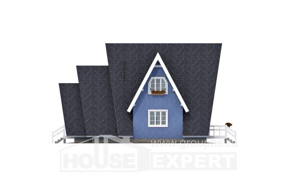 100-002-R Two Story House Plans and mansard, inexpensive Blueprints,