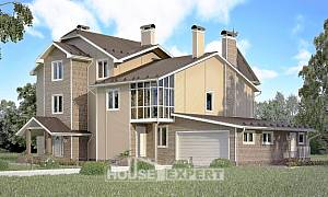 555-001-L Three Story House Plans with mansard with garage under, best house Drawing House,