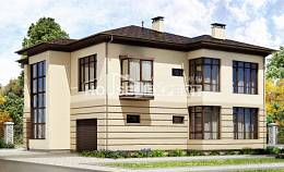 300-006-R Two Story House Plans with garage in front, modern Architect Plans,