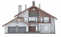 270-003-L Two Story House Plans and mansard with garage in front, cozy House Plans,