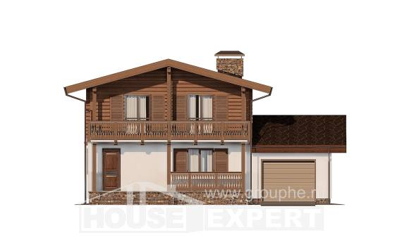 200-011-R Two Story House Plans with mansard roof, average Custom Home, House Expert