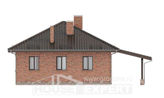 070-006-L One Story House Plans, miniature Architectural Plans, House Expert