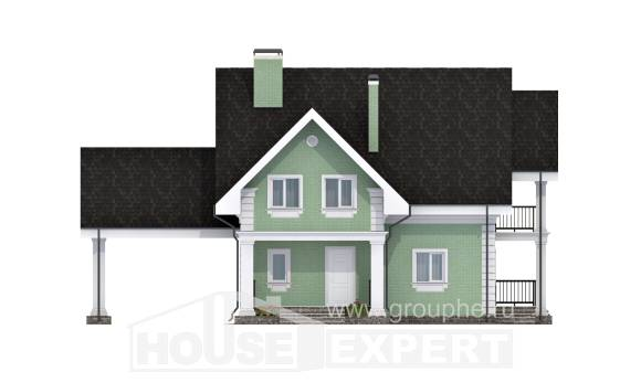 140-003-L Two Story House Plans and mansard with garage under, beautiful Online Floor, House Expert
