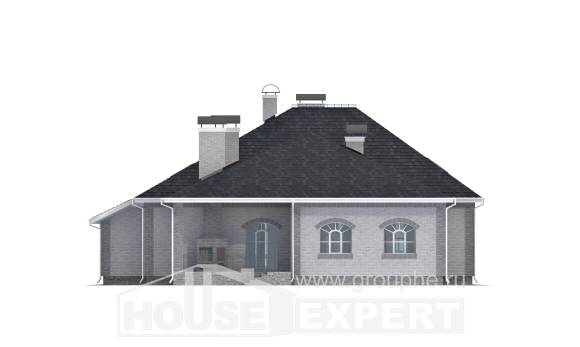 385-001-R Two Story House Plans with mansard roof with garage in front, big House Planes, House Expert