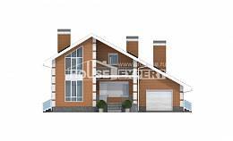 190-006-R Two Story House Plans with mansard roof and garage, best house Drawing House,