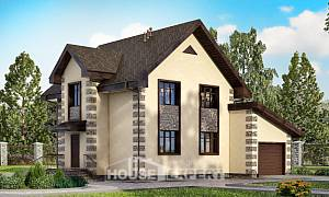 160-004-R Two Story House Plans and mansard with garage in back, beautiful Architects House