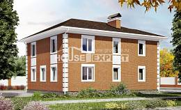 220-004-L Two Story House Plans with garage under, modern Home House, House Expert